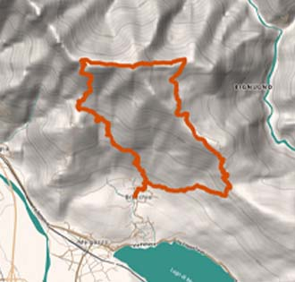 Monte Faiè - itinerarium