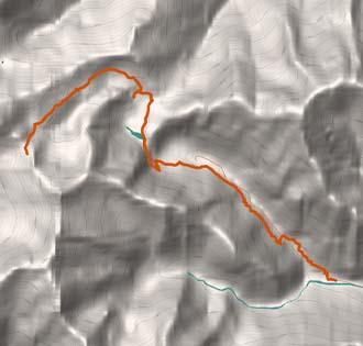 Le rovine di Villa Aprilia e il Lago Baranca