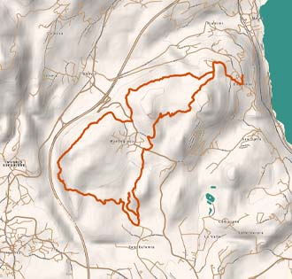 The large ring from Dagnente to Montrigiasco - itinerarium