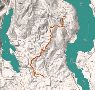 On Vergante's ridge: 1st tract Invorio - Carpugnino - itinerarium