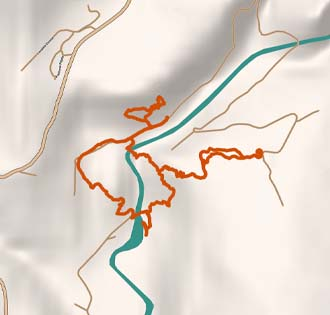 From the ravines of Uriezzo to Crego - itinerarium