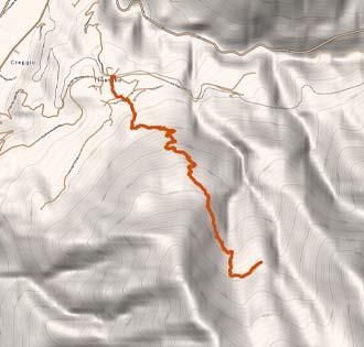 Rifugio Parpinasca - itinerarium